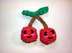 3-D Happy Cherries Tutorial by feelinspiffy (Rainbow Loom)