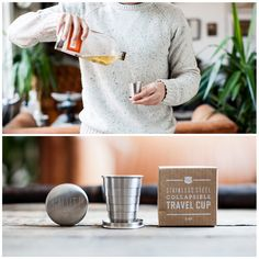 """Izola """"Salut!"""" Collapsible Travel Cup $18.00"""