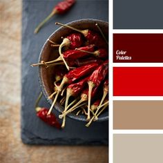 Color Palette #436 inspired by red chillies