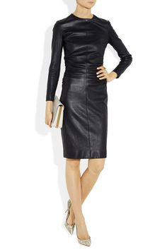 Fierce leather dress for whipping things into shape at the office. The Row.