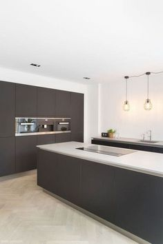 There is a lot of people today, tend to have modern kitchen design ideas for their new house. However, there is a lot of things that you need to know before creating modern kitchen design. Kitchen Buffet, Home Decor Kitchen, Kitchen Furniture, Kitchen Cabinets, Kitchen Ideas, Gray Cabinets, Furniture Stores, Kitchen Flooring, Kitchen Backsplash