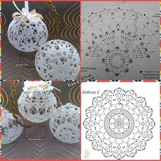 Crochet Patterns Christmas Photo only. No pattern - Salvabrani - SalvabraniAnges au crochet Plus - SalvabraniWedding Table Centerpiece Crochet Candle Holders by VasilisaSkaska - SalvabraniBeautiful eggs with crochet - SalvabraniBeautiful Crochet bells, se Christmas Tree Hooks, Crochet Christmas Decorations, Christmas Crochet Patterns, Crochet Christmas Ornaments, Crochet Decoration, Holiday Crochet, Christmas Baubles, Christmas Crafts, Christmas Knitting