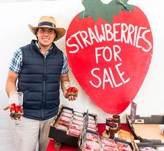 Delicious and oh so sweet, locally grown strawberries from stallholder Sunrise Strawberries. #strawberries #freshstrawberries #locallygrown #fruit #berries #yourlocalmarkets #goldcoast #australia