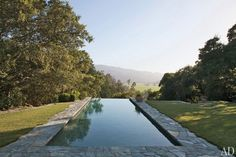 A flagstone pool at the Napa Valley, California, home of Summer Hill founders Don and Rela Gleason.