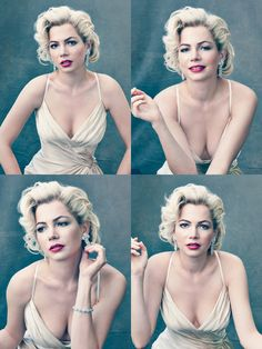 Michelle Williams as Marilyn Monroe for Vogue, October 2011.