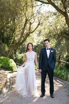 Spanish Wedding: Rustic Mediterranean Blush Inspiration - MODwedding