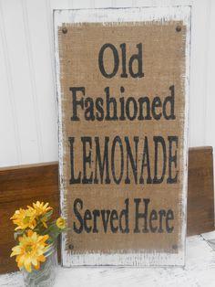 LEMONADE Old Fashioned vintage look sign by SophiasSignBoutique, $42.00