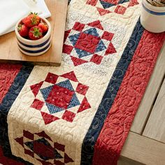 Hi! Monique from @opengatequilts. Have you got your latest issue of Quilts and More magazine? This Americana inspired table runner that I designed is included in the Spring, 2018 issue. Be sure to pick up your issue on newsstands now! #opengatequilts #americanpatchworkandquilting #quiltsandmore #allpeoplequilt #americanaquilt #quilt #quilting #quiltbindandenjoy