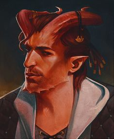 m Tiefling Bard Lt Armor Cloak portrait Night Dzovi Fantasy Character Design, Character Creation, Character Design Inspiration, Character Concept, Character Art, Fantasy Portraits, Character Portraits, Fantasy Artwork, Dungeons And Dragons Characters