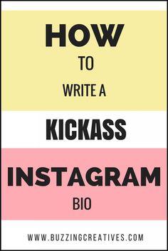 How to write a Instagram Bio , social media marketing