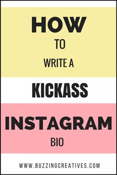 How to write a Instagram Bio , social media marketing