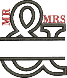 MR & MRS Wedding Applique Design  Instant by mysewcuteboutique, $3.00