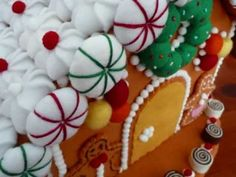"Felt Crafts - Felt Food Gingerbread House Pattern (from the ""Felt Cuisine"" series) - Now on eBay !"