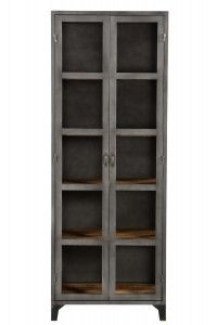 2 Door Industrial Cabinet With Mango Wood Shelves Cabinet Furniture, Wood Shelves, Industrial Furniture, China Cabinet, Logan, Bookcase, Mango, Dining Room, Lounge