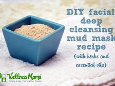 Deep cleansing mud mask facial recipe with herbs and essential oils 365x274 Deep Cleansing Mud Mask Recipe