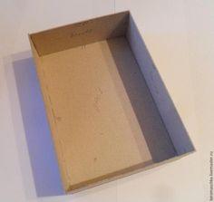 Шкатулочка из картона и ткани