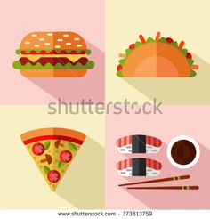 Find Vector Flat Style Icons Set Fast stock images in HD and millions of other royalty-free stock photos, illustrations and vectors in the Shutterstock collection. American Stock, Mexican American, Long Shadow, American Traditional, Traditional Kitchen, Fashion Flats, Junk Food, Icon Set, Style Icons