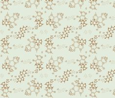 Caffeine Molecules fabric by molecularmuse on Spoonflower - custom fabric