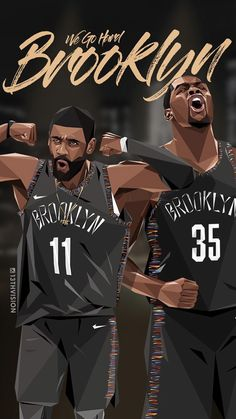 Mens Style Discover Sports Discover We go hard Brooklyn. Brooklyn Basketball, Mvp Basketball, Basketball Posters, Basketball Legends, Basketball Bedroom, Street Basketball, Basketball Workouts, Irving Wallpapers, Nba Wallpapers