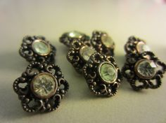 Vintage Buttons  beautiful lot of 8 tiny antique by pillowtalkswf, $7.25