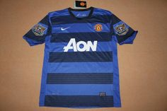 e1a8a7a68f2 new 11 12 Manchester United away blue black football jersey and shorts  Football Jerseys