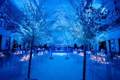 Winter Wonderland Wedding with Ghost Chairs. Frosted Winter Wedding at the Pierre Hotel