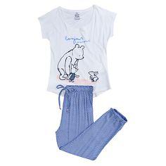 Winnie The Pooh long pyjama with satin style bottoms