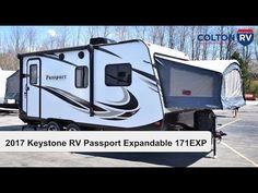 2017 Keystone RV Passport UltraLite Expandable 171EXP | Travel Trailer Hybrid Travel Trailers, Rv Trailers, Tiny Camper, Keystone Rv, Campers, Passport, Recreational Vehicles, Travel Trailers, Camper Van
