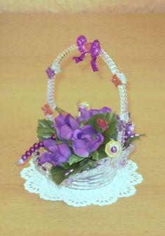 Ein supersüßes Geschenkkörbchen aus Acryl, das von mir in liebevoller Handarbeit gestaltet wurde.    Ein Unikat von Sunshine Design!