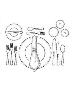 Place Setting Template for Seven course meal Food Pinterest