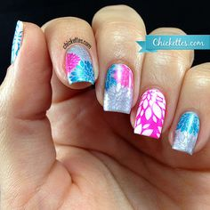 Messy Mansion Floral Stamped Nails - Chickettes