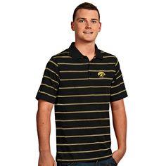Iowa Hawkeyes NCAA Deluxe Mens Polo Shirt Black/Gold