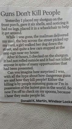 this says a lot about guns!