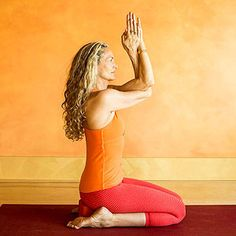 Yoga for Runners: Hero Pose with Eagle Arms