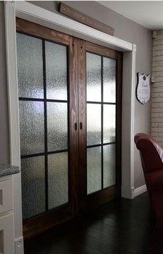 Beautiful Glass Barn Doors Interior Barn Doors In Home, Renovations, House Design, Kitchen Doors, French Doors Interior, Glass Barn Doors, Door Design, Wood Doors Interior, Patio Doors