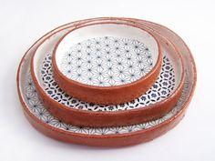 Von drei handgemachte Tapas-Teller Set von susansimonini auf Etsy