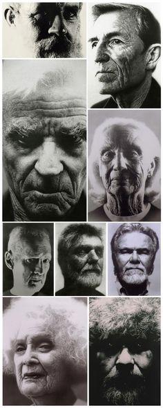 Various fine art portraits by FIDM Graphic Design Instructor William Fogg.