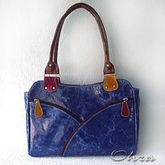 """Купить Сумка кожаная """"Нанси"""" - синий, сумка летняя, сумочка женская, Кожаная сумка"""