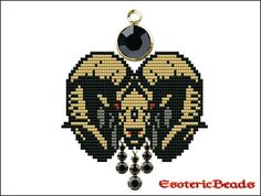 Aries Pendant PDF pattern by EsotericBeads on Etsy, €3.50