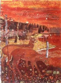 Red Deer, Peter Doig 1990