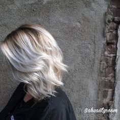 Silver icy grey blonde with deep base