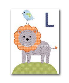 Lion Nursery Art Baby Nursery Decor Printable by nataeradownload