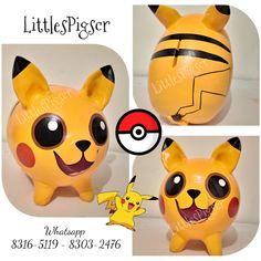 - Little Pigs Workshop Pikachu, Little Pigs, Ideas Para, Workshop, Anime, Batman, Piggy Banks, Diy Crafts, Children