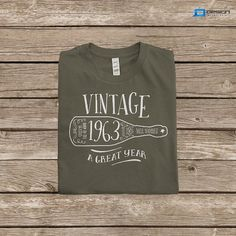 51st Birthday 1963 Birth Year Vintage TShirt By DesignInventPrint 1699 40th Gifts