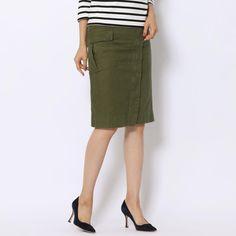 コットンバックサテン ラップタイトスカート(12056405751) | スカート | ウエア | ウィメンズ | MACPHEE | トゥモローランド 公式通販
