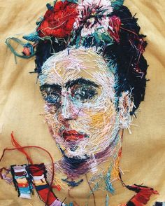 Les Vêtements et Portraits brodés de Lisa Smirnova (3)