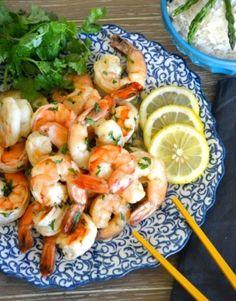 sticky lemon shrimp