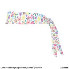 Cute colorful spring flowers pattern tie headband Train Like A Beast, Sweat Out, Tie Headband, All Print, Party Hats, Spring Flowers, Flower Patterns, Art Pieces, Colorful