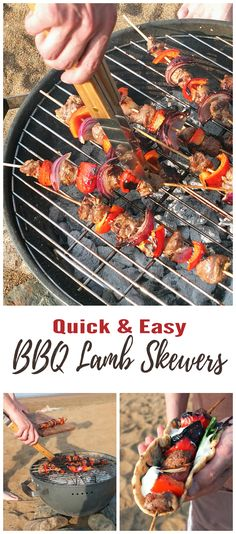 Simple enough to assemble outdoors these lamb skewers taste extra special grilled over the coals under the hot sun. In collaboration with Tasty, Easy Lamb.