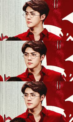 Handsome Sehun with glasses